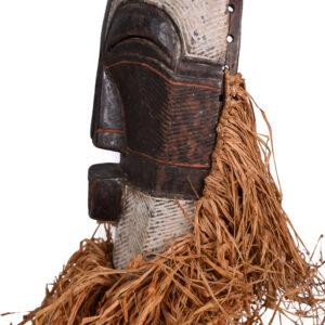 Female Mask - Raphia, Wood - Kifwebe - Songye - Congo DRC