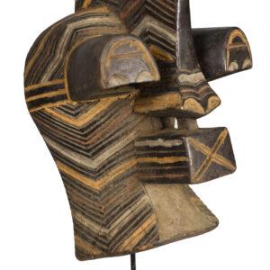 Male Mask - Wood - Kifwebe - Songye - Congo DRC