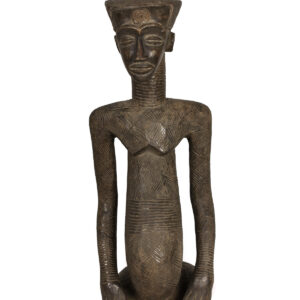 King ancestral figure - Wood - Ndengese - DR Congo