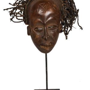 Mask - Wood - Mwana Pwo - Chokwe - DR Congo