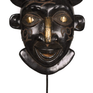 Helmet mask - Copper, Wood - Bamoun - Grassland of Cameroun