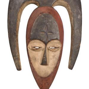 Heart shaped Mask - Wood - Kwele - Gabon