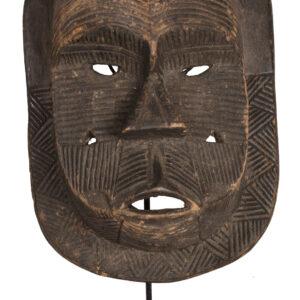 Initiation mask - Wood - Tetela - DR Congo