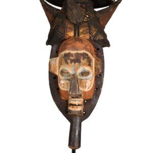 Initiation mask - Cloth, Wood - Yaka - Congo