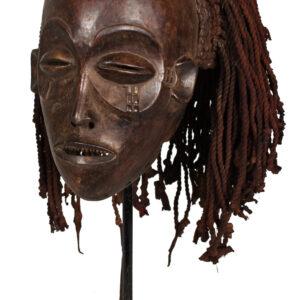 Mask - Wood, Rope - Mwana Pwo - Chokwe - Angola