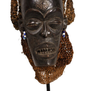 Face Mask - Beads, Wood, Rope - Chokwe - Angola