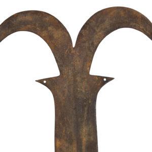 Ngala double sided sword / Currency - Copper, Wood - Ngombe - Congo