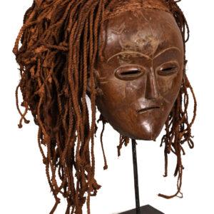 Mask - Wood, Rope - Lwena - Angola