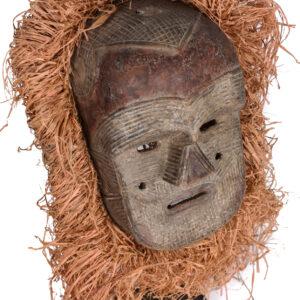 Mask - Raphia, Wood - Tetela - Congo