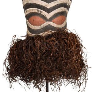 Helmet Mask - Raphia, Wood - Kifwebe - Songye - Congo