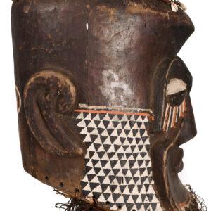 Royal Mask - Beads, Cowry, Raphia, Wood - Bwoom - Kuba - DR Congo