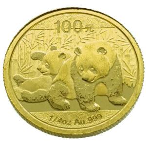 China 100 Yuan 2010 Panda 1/4 Oz. - Gold UNC